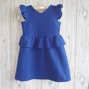 Janie And Jack Quilted Peplum Dress Size 4 NWT